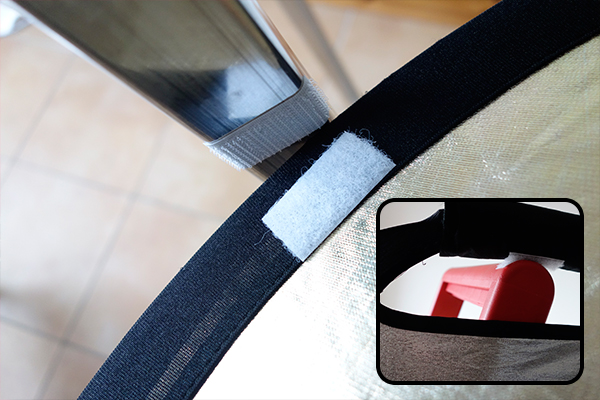 Velcro_strips_on_reflector_and_ladder