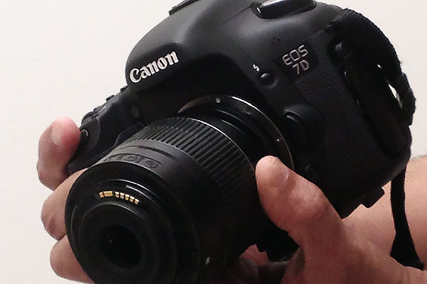 Reverse lens handheld