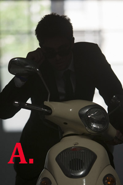 man on a motorcycle as a silhouette