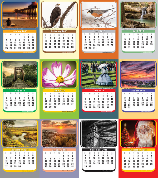 "My 2014  ""crop"" in my 2015 desk calendar"