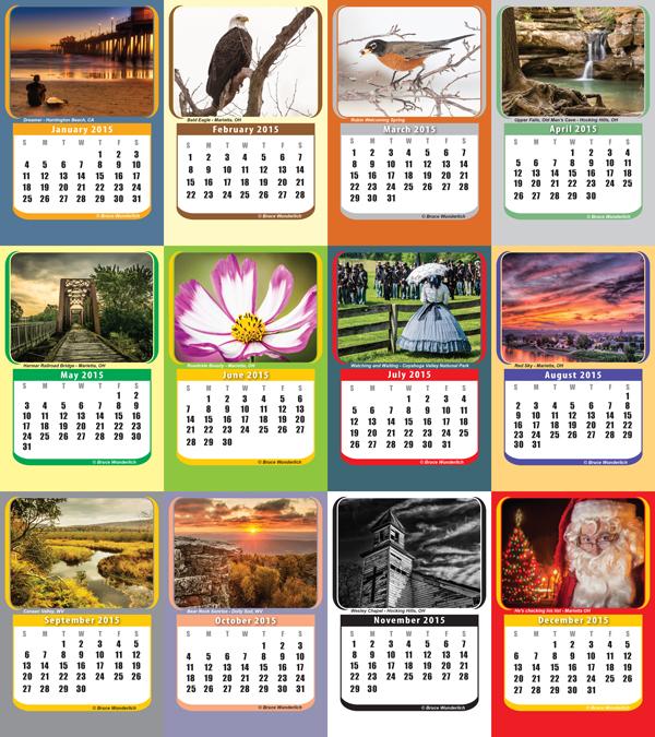 "My 2014  ""crop"" in my 2015 desk calendar"