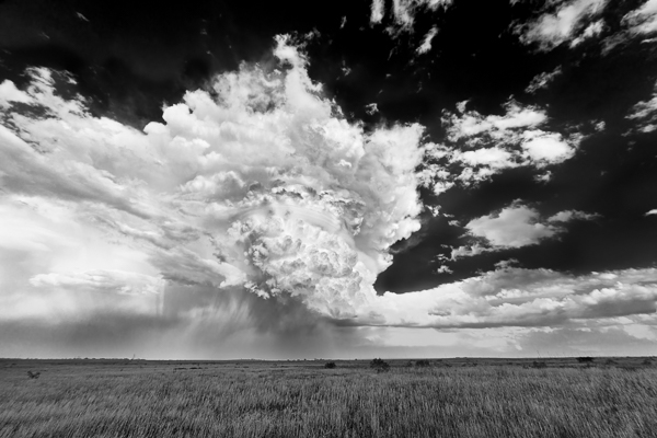 A beast of a supercell in Throckmorton, TX back in May of 2013. Around 10 minutes after I took this photo the storm fell apart and disappeared.