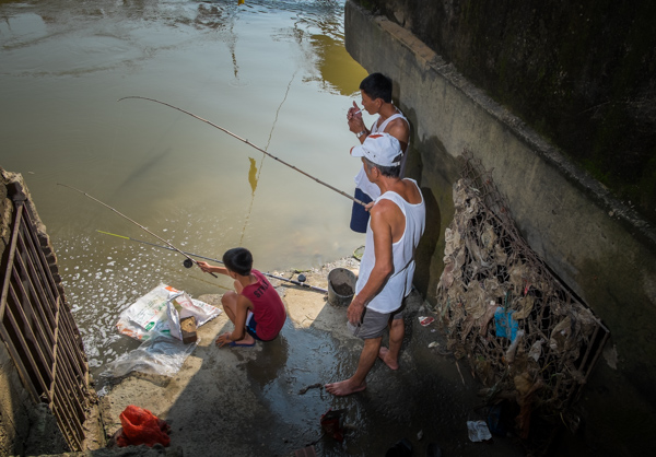 Fishing on the Cau River