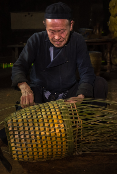 Old Black Hmong man