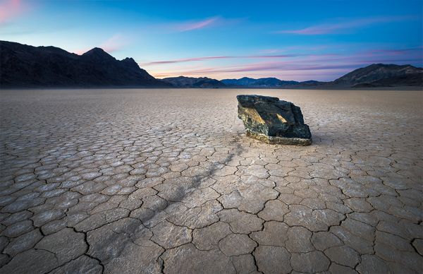 "A ""sailing stone"" at the Racetrack Playa."