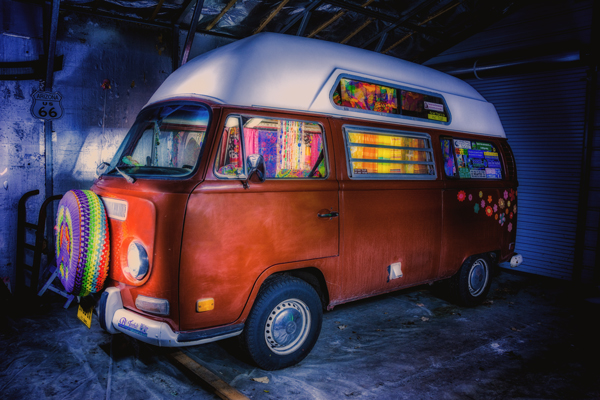 VW Bus 1971 Light Painting