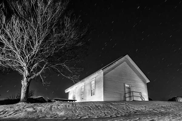 casa da escola na neve
