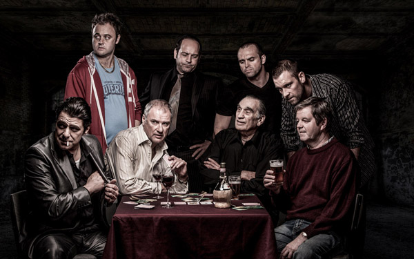 men playing cards studio image