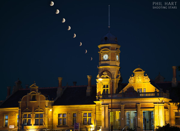 Lunar Eclipse over Maryborough Station-M