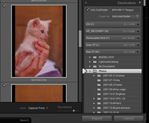 import-photos-using-lightroom-6