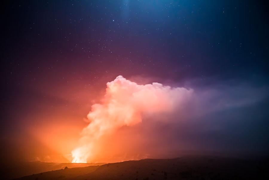 Kilauea's Glow | Volcanos National Park