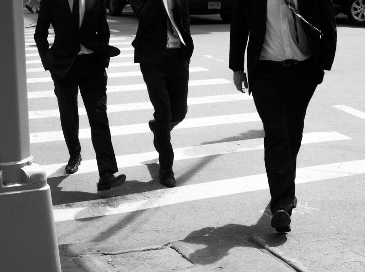 Three Men, SoHo, NYC.