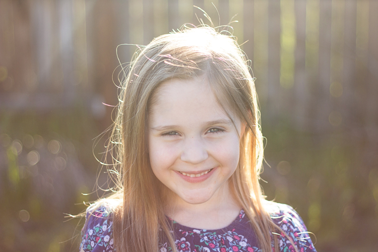Image: In this instance, I was photographing my daughter in our backyard at about 6:30pm. My startin...