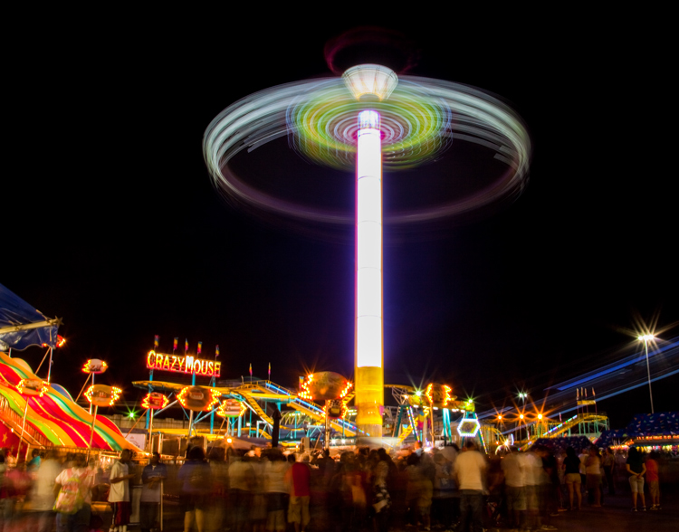 Great Subjects for Urban Night Photography - State Fair example