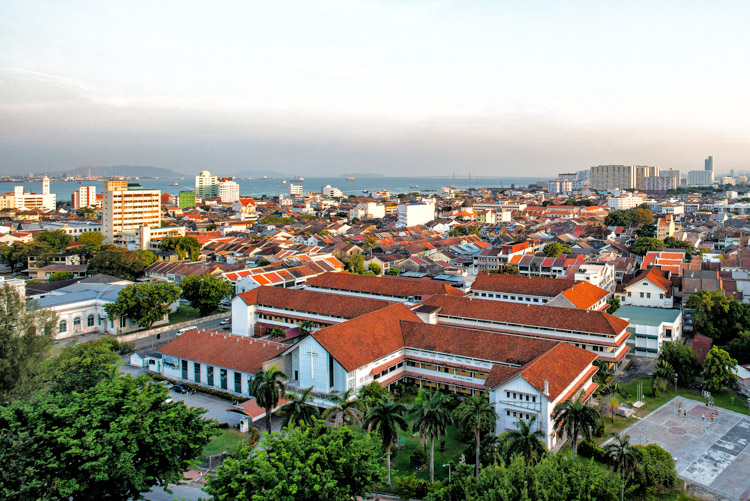 Before applying the effect to a photo of Penang, Malaysia.