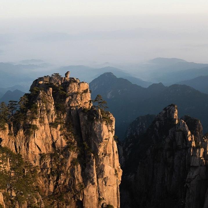 beautiful mountaintop in China