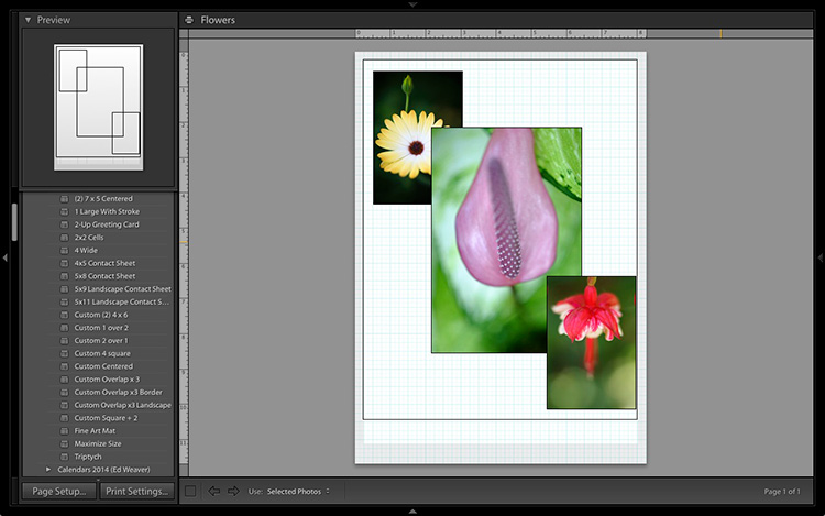 Lightroom Print module
