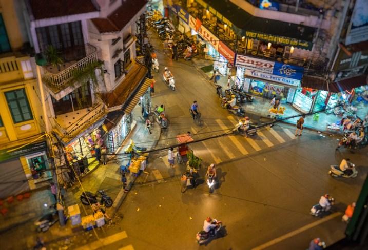 Corner Street in Hanoi
