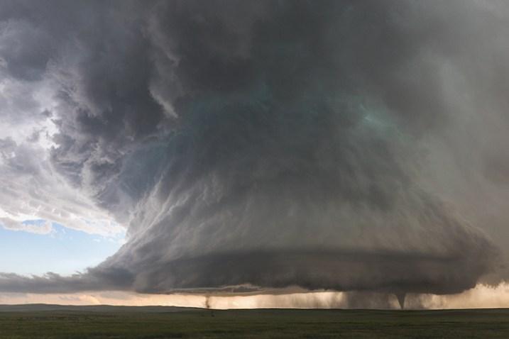 © Kelly DeLay. Sister tornadoes - Simla, Colorado