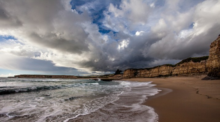 Seascape features example -  Davenport clouds
