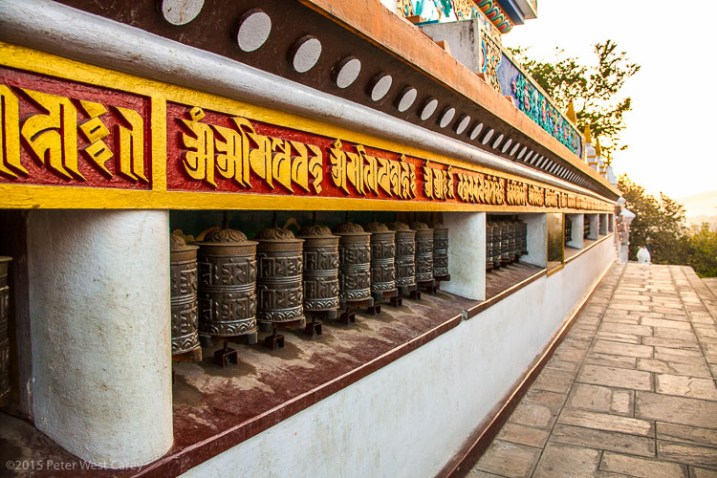 Prayer Wheel Wall, Kathmandu, Nepal