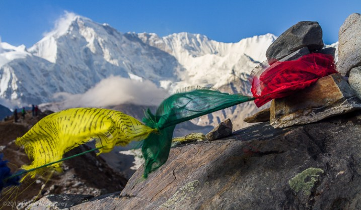 Prayer Flags And Cho Oyu, Gokyo, Nepal, Asia