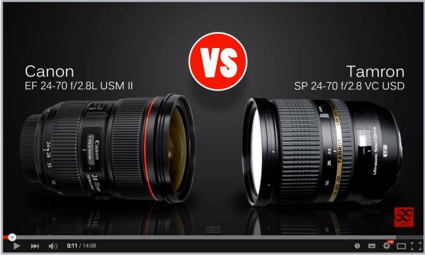 Lens Comparison 24-70mm f/2.8 – Canon Versus Tamron
