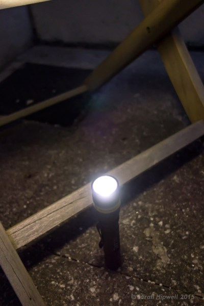 Torch-under-chair