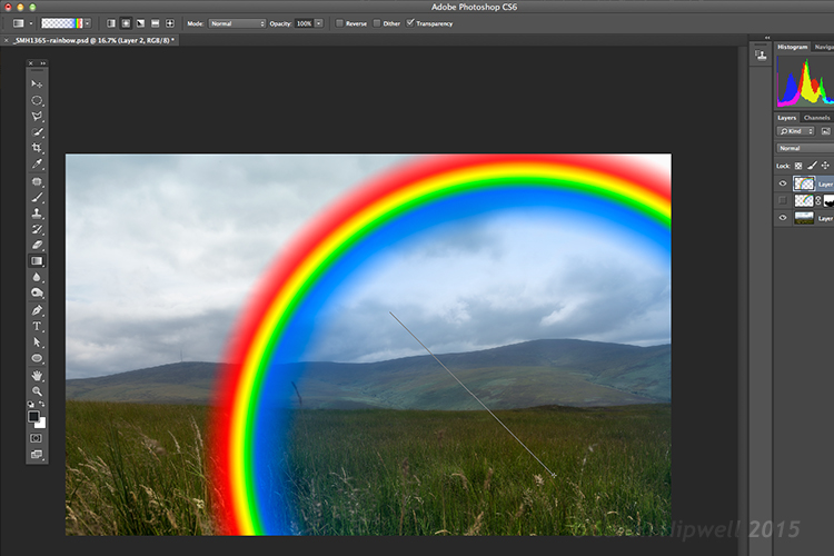 Creating-rainbow-using-rainbow-effect