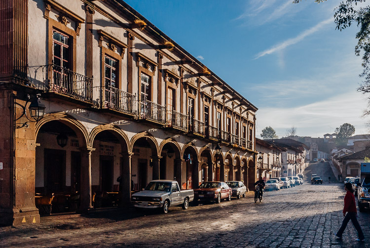 Colonial architecture in a historical Mexican town