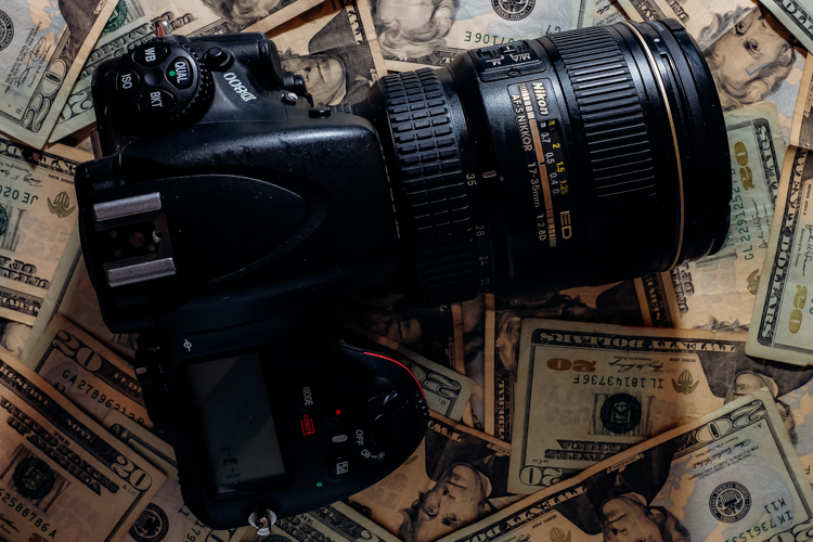 Expensive camera equipment