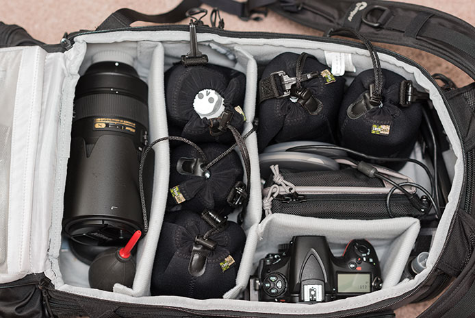 camera bag, getting the most from your bag, travel, photography, lenspouch, lowepro protactic 450 aw