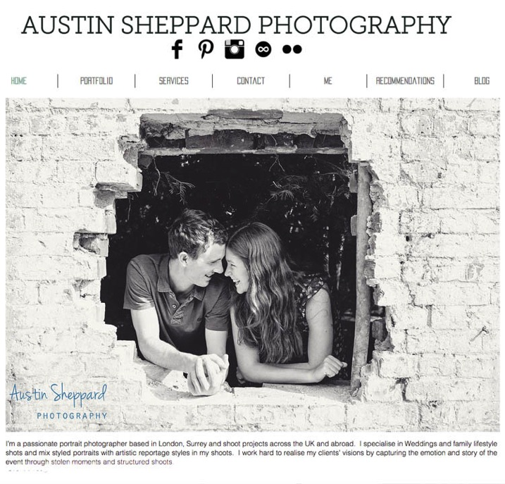5 example of good website clearly visible links to social media www austinsheppardphotography com