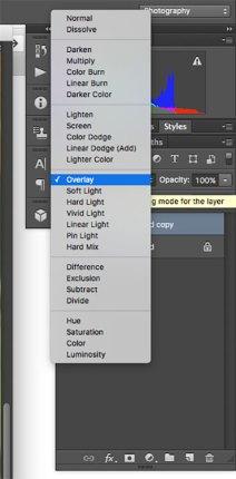 High Pass filter layer blending mode