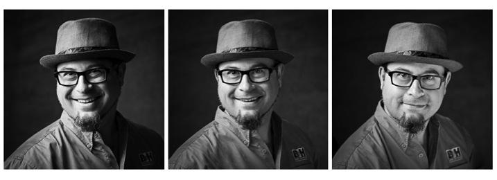 Portrait tips lighting with reflectors