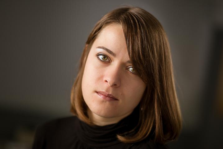 woman intense portrait