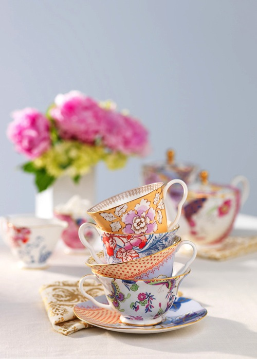 Stash tea flower teacups hard light example studio 3