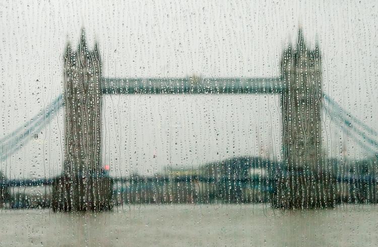 Tower Bridge London in the rain