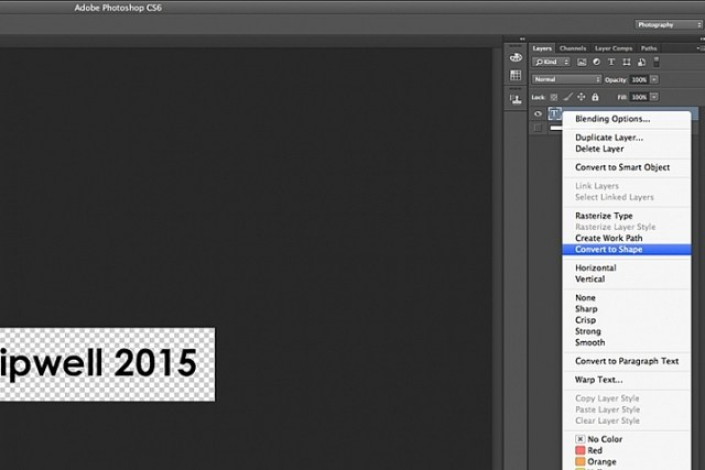 Convert-text-layer-to-shape