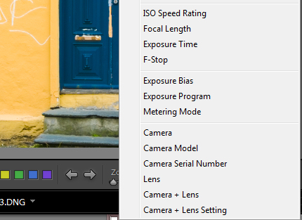 More settings for the Loupe info overlay