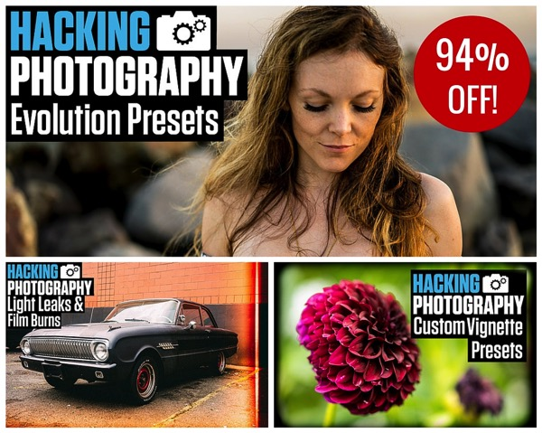104 Brand NEW Hacking Photography Lightroom Presets for $10