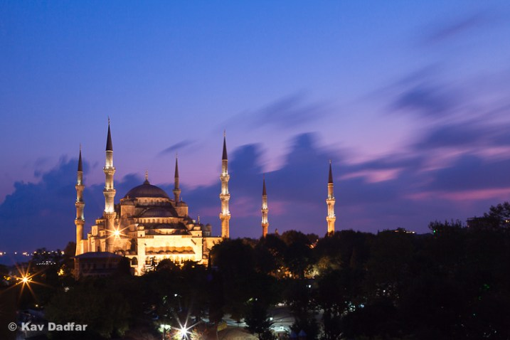 By placing the Blue Mosque on the left hand side of the composition it makes this shot easier to use as double page spreads.