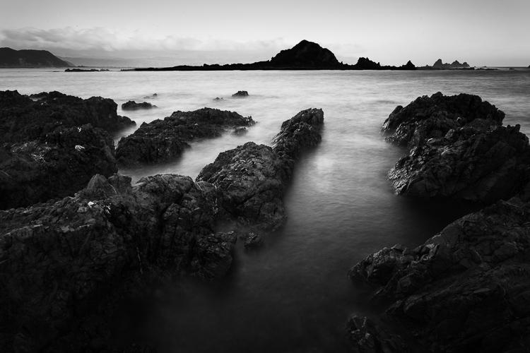 praia preto e branco