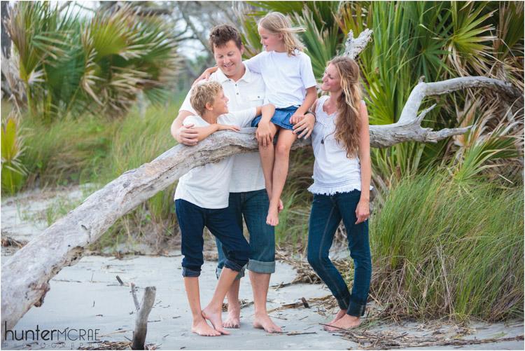 family portrait on a beach