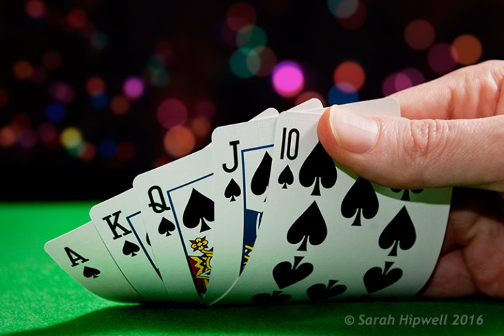 Playing-cards-with-bokeh-background