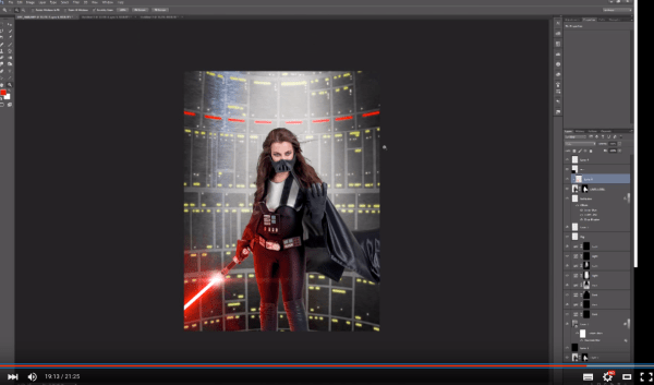 How to Create a Lightsaber in Photoshop Video Tutorial