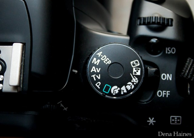 Aperture priority on canon mode dial