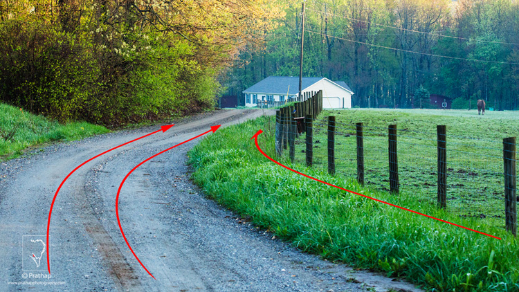 05 Leading Lines Composition Techniques Landscape Photography by Prathap Blue ridge Parkway Countryside