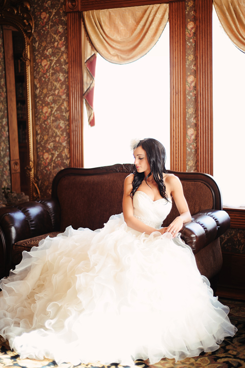 bride on a couch