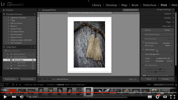 2 Video Tips for Using the Print Module in Lightroom